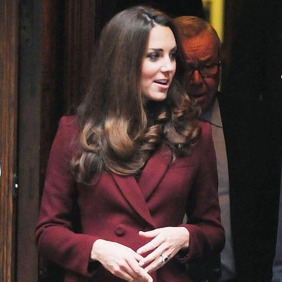 Kate Middleton Wears Burgundy 2012 (Video)