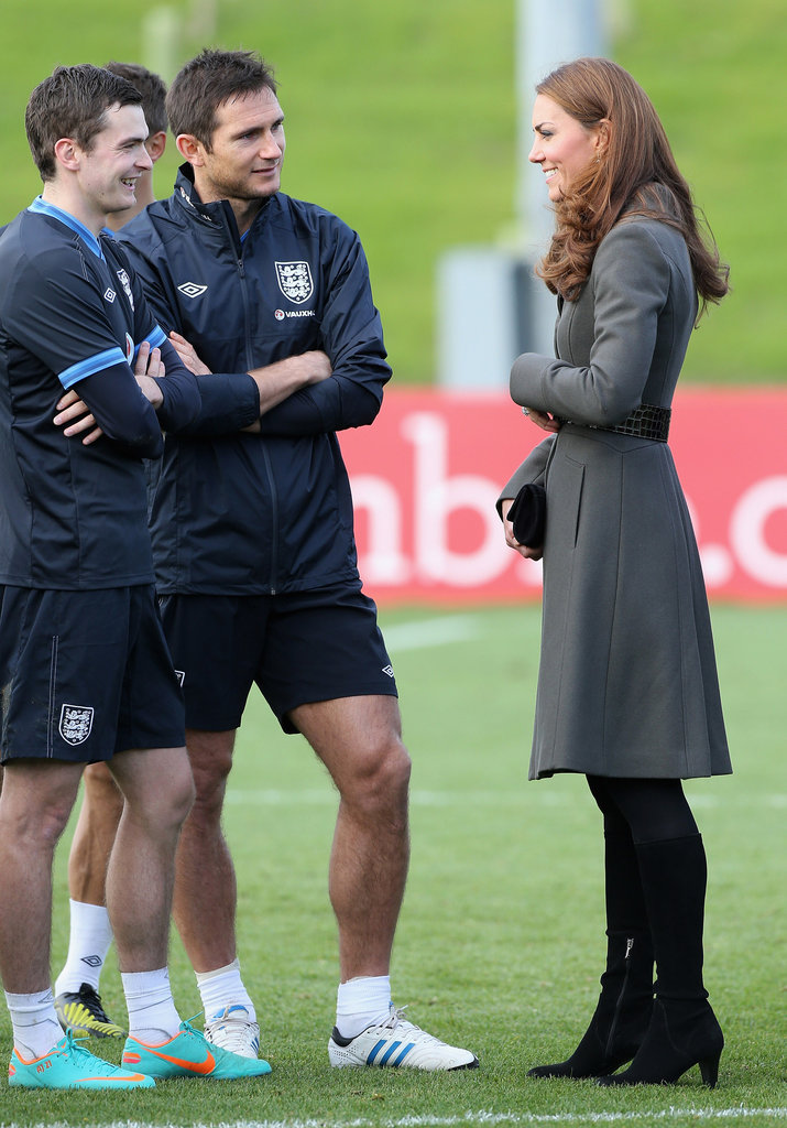 Kate Middleton chatted with players.