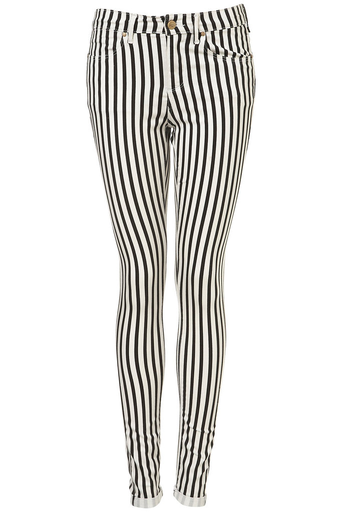 Topshop's Leigh Stripe Skinny Jeans ($80) have a Mick Jagger vibe that we just can't get enough of.