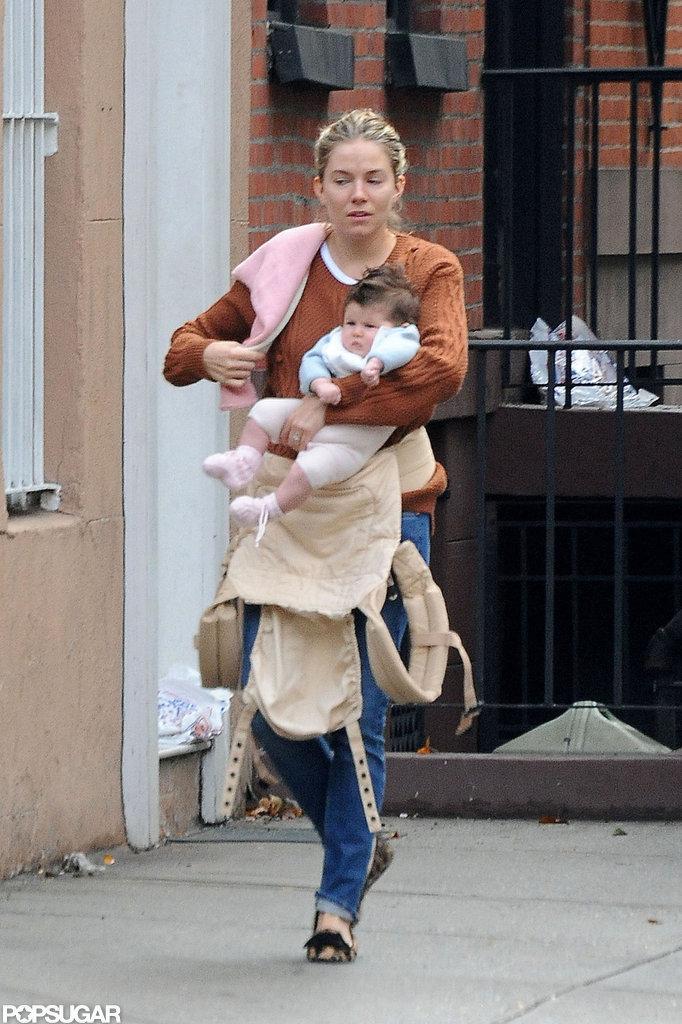 Sienna Miller carried Marlowe around NYC.