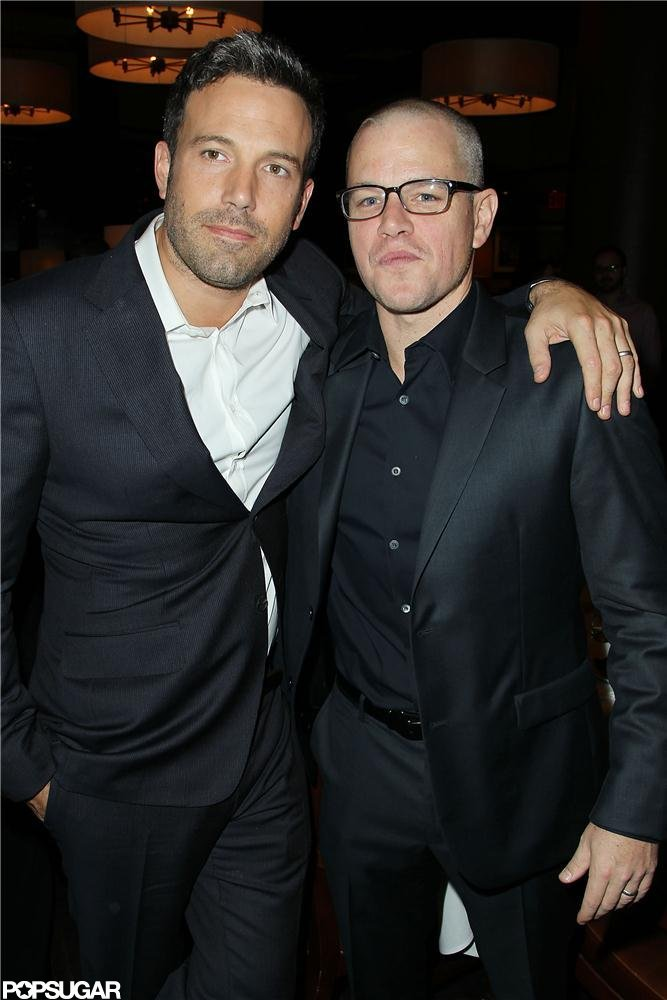 Matt Damon and Ben Affleck attended the NYC screening of Argo.
