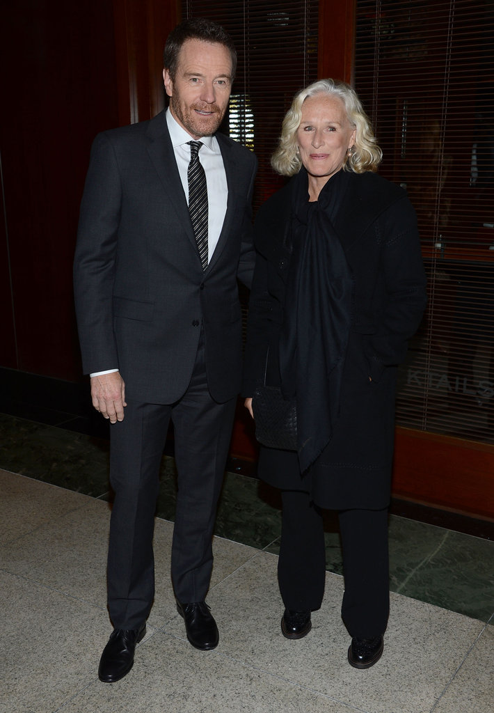 Bryan Cranston and Glenn Close attended the NYC premiere of Argo.