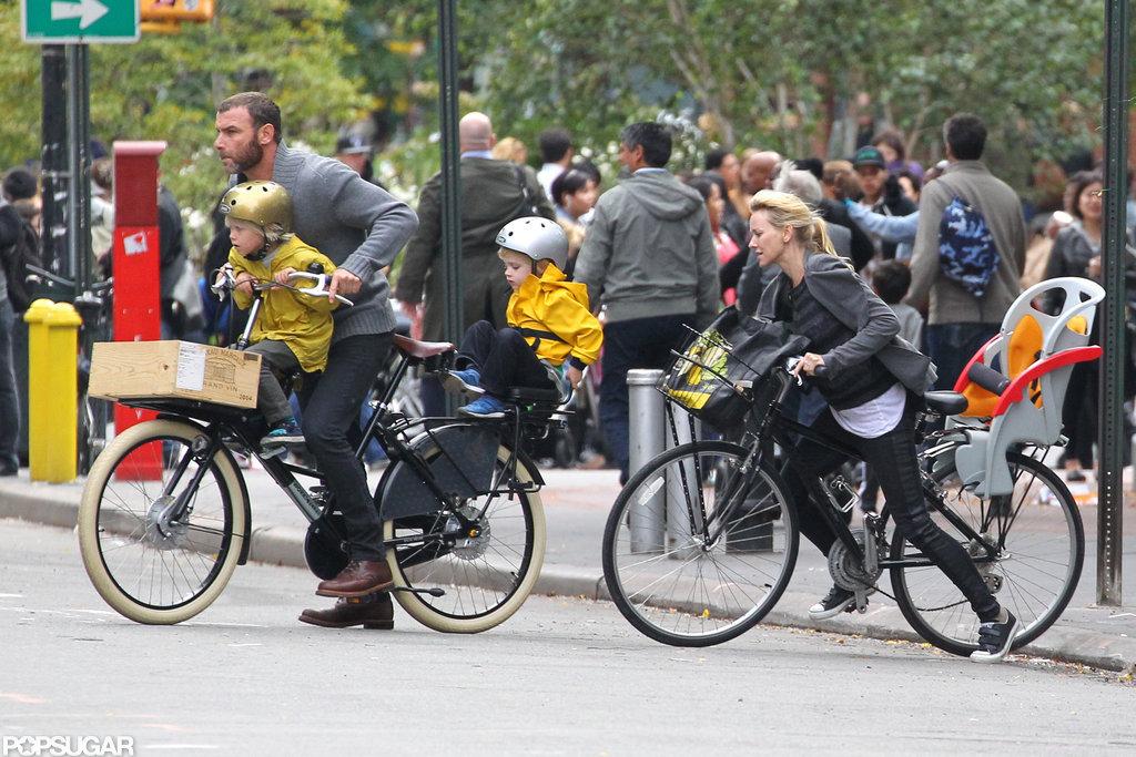 Naomi Watts and Her Boys Wheel Around the Big Apple