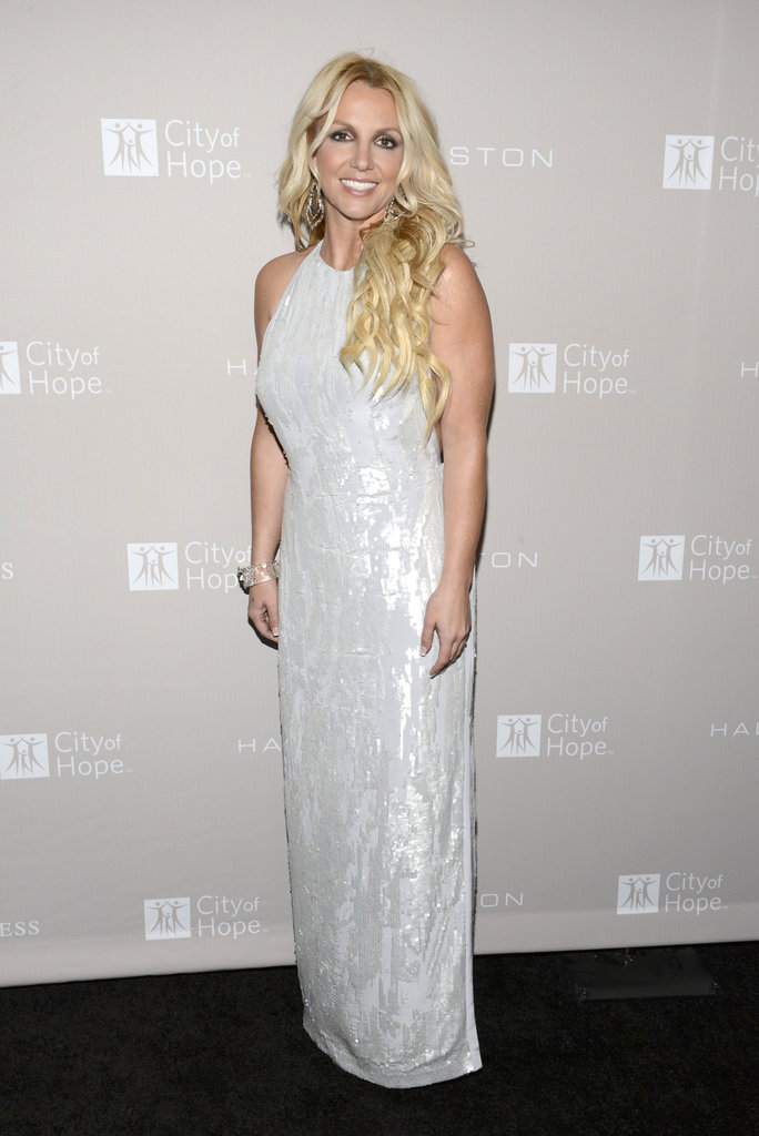 Britney spears posed in a Halston Heritage dress at the City of Hope charity's gala in LA.