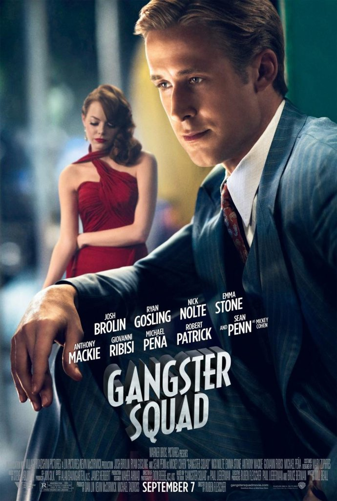 Emma Stone and Ryan Gosling in Gangster Squad