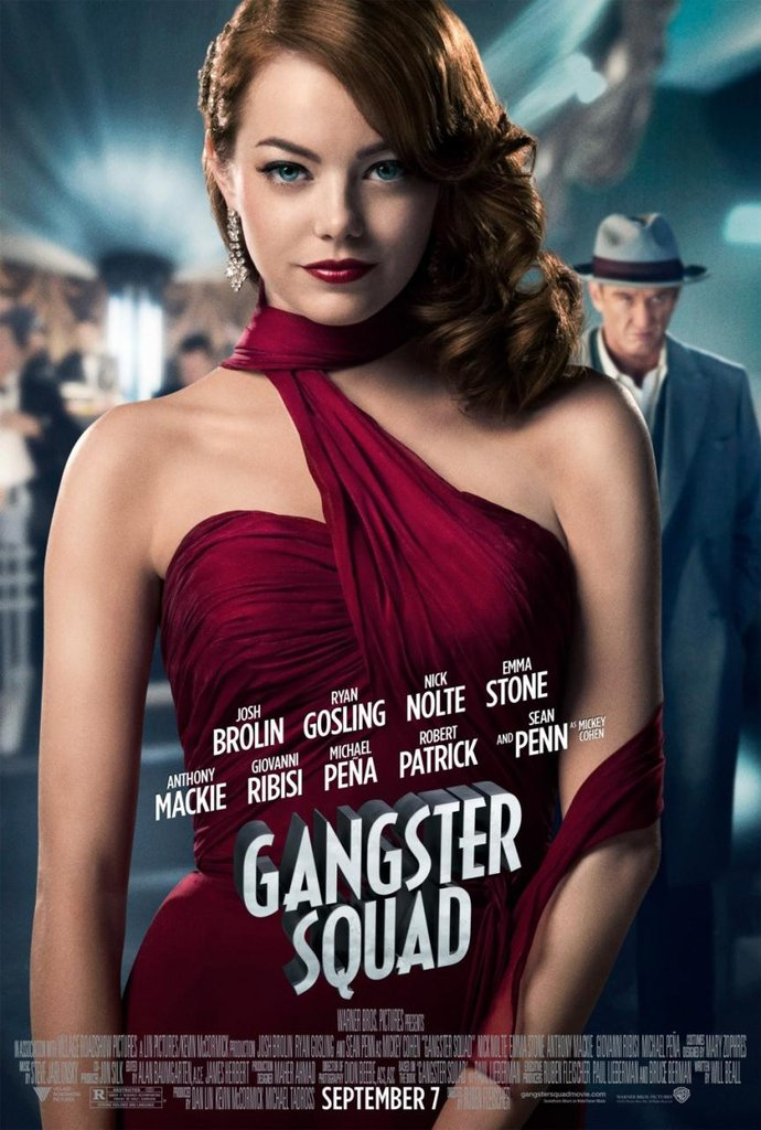 Emma Stone and Sean Penn in Gangster Squad