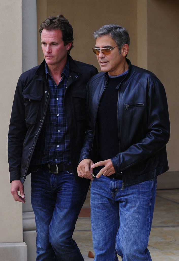 George Clooney lunched with Rande Gerber in LA. | George ...