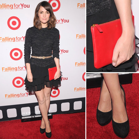 Rose Byrne worked a bold red accent into her LBD look for major impact — now you can too.