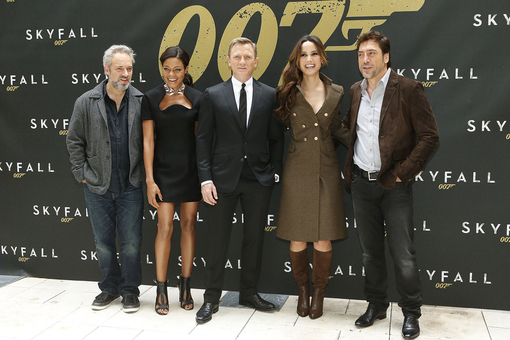 Daniel and Javier Pose With Bond Girls For Skyfall's First US Photo Call