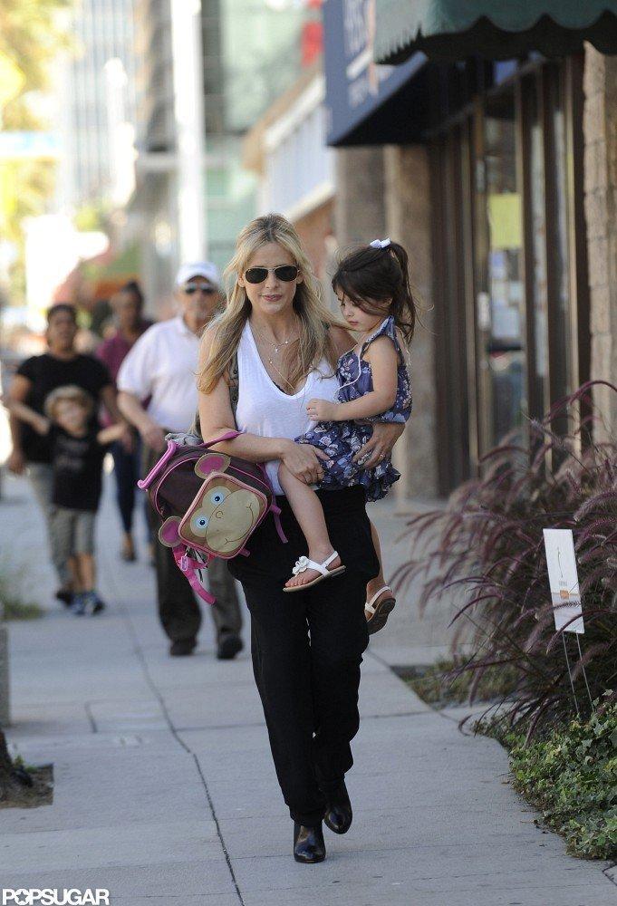 Sarah Michelle Gellar and Charlotte Prinze took a walk in LA.