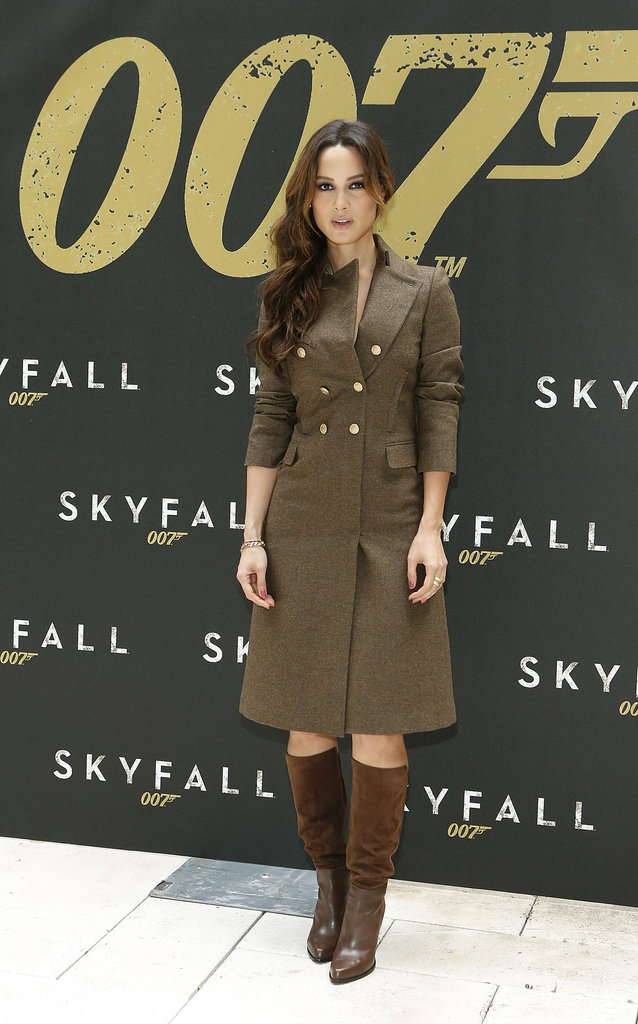 Bérénice Marlohe posed at a photocall for Skyfall.