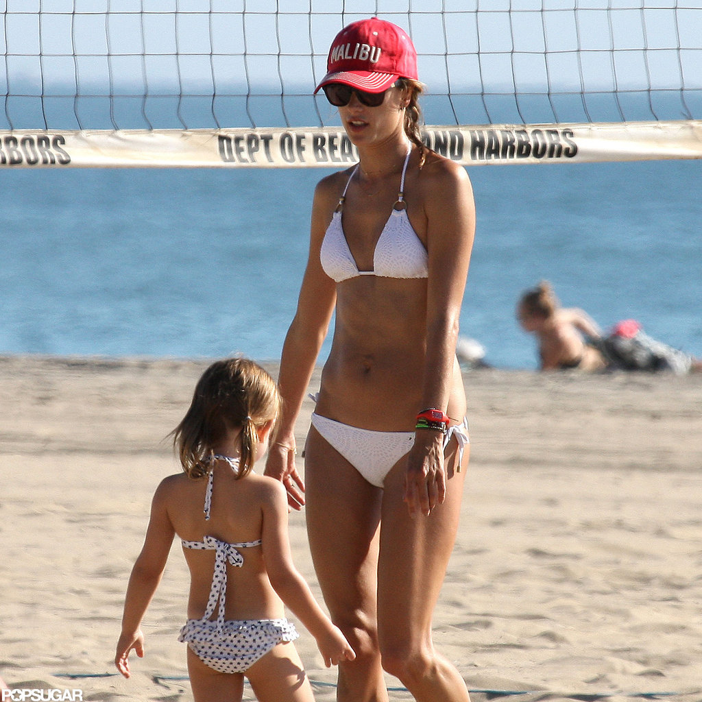 Alessandra Ambrosio and Anja Mazur hit the beach in Malibu.