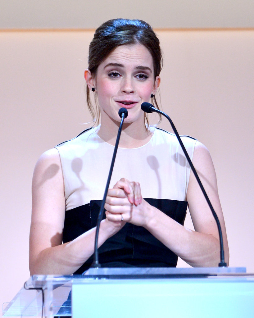 Emma Watson appeared on stage at the awards.