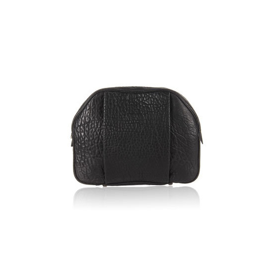 Alexander Wang Toiletry Bag in Black Dumbo With Black Nickel, approx $393