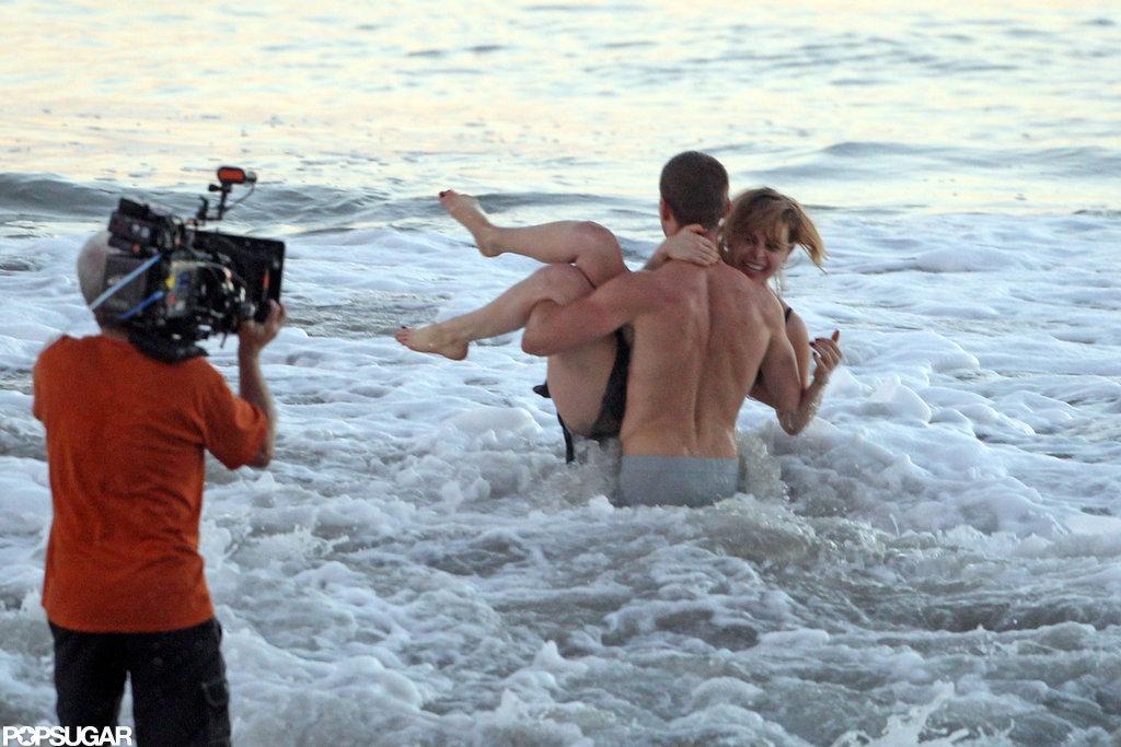 Parenthood's Mae Whitman Films a Sexy PDA Scene in Her Underwear