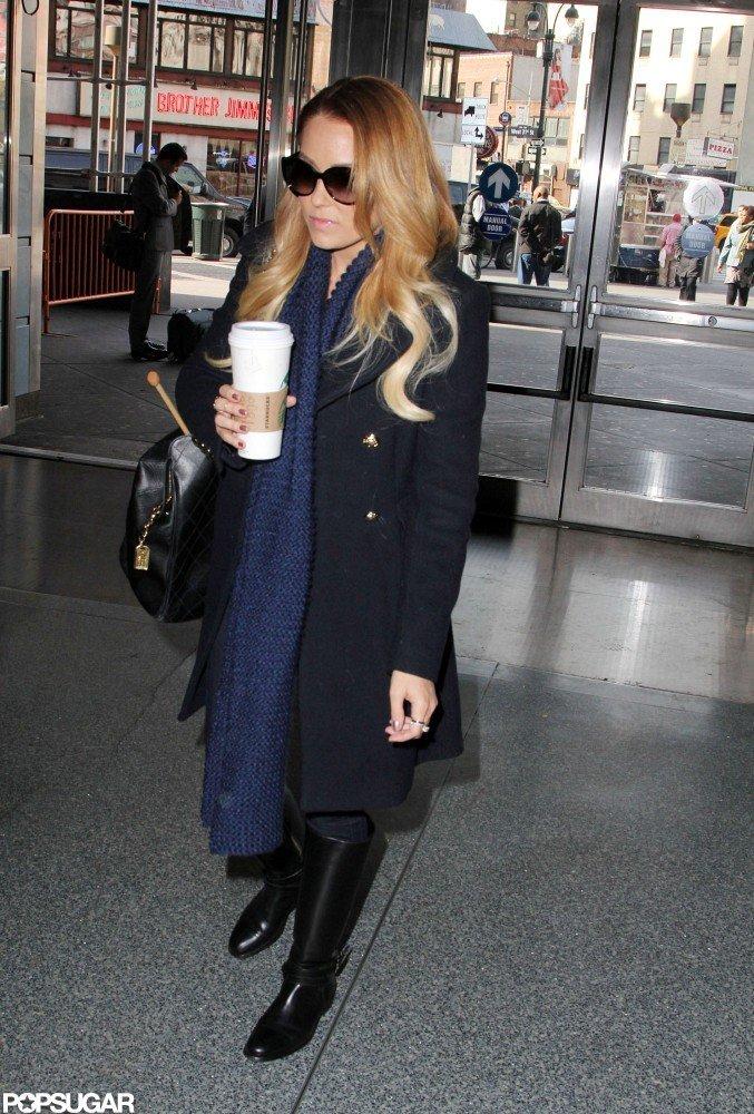 Lauren Conrad arrived at Penn Station.
