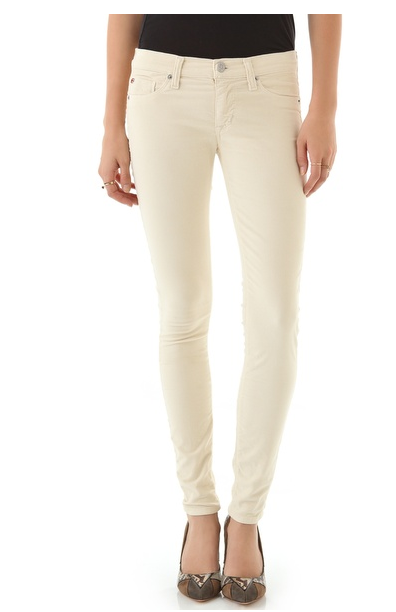 Don't fear white pants for Fall or Winter. In a rich, velvety texture, these Hudson Krista Super Skinny Velvet Pants ($183) were made for wearing right now.