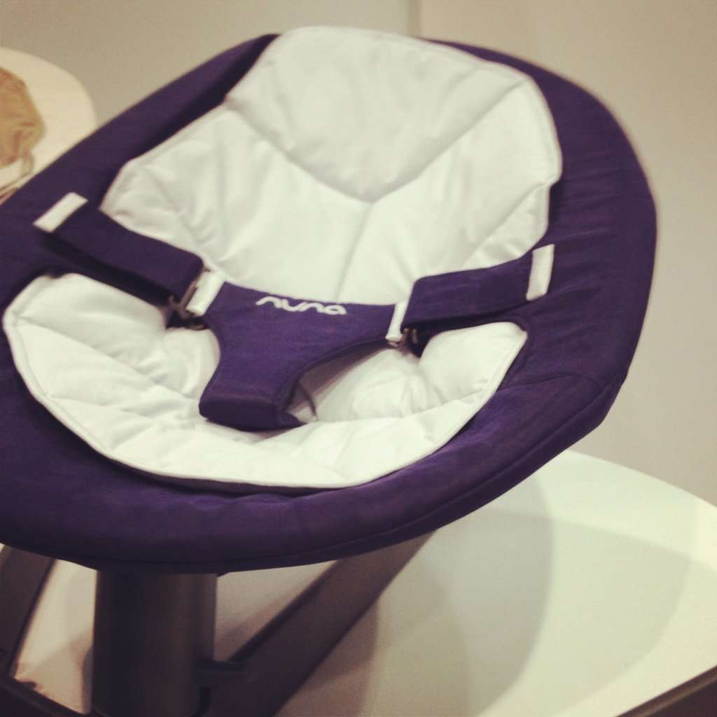 The Nuna Leaf — the first product from Dutch company Nuna — is a baby seat that glides side to side for two to three minutes powered by a baby's natural movements. It holds up to 130 pounds and is very comfortable (I tested it out myself!).