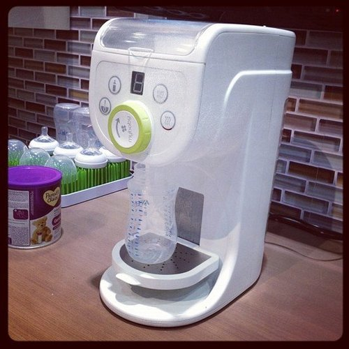 Homedic's My Baby plans to launch a formula dispenser next Fall. The system will fill two, four, six, and eight ounces at a time and will only take 20 seconds.