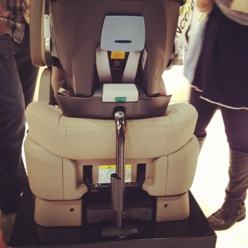 The Cybex Aton 2 infant car seat will be released in January, and it features built-in Linear Side-Impact Protection that the company says increases safety by 50 percent. The antirebound bar is attached to the seat's base and reaches directly to the floor of the vehicle.