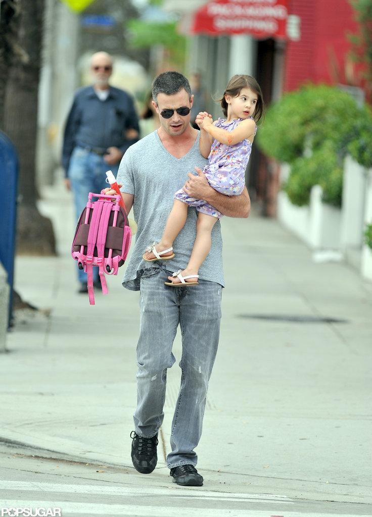 Freddie Prinze Jr. walked his daughter Charlotte to school.