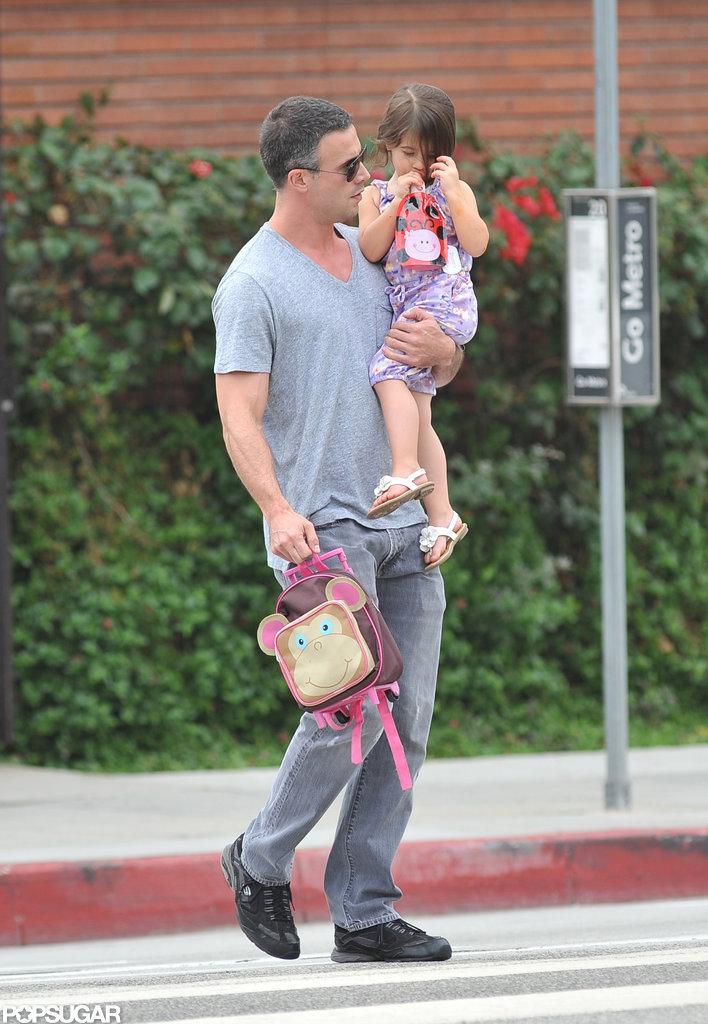 Freddie Prinze Jr. and Charlotte Prinze headed to school in LA.