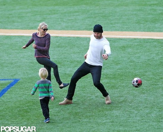 Naomi Watts Kicks It With Her Boys Liev and Kai