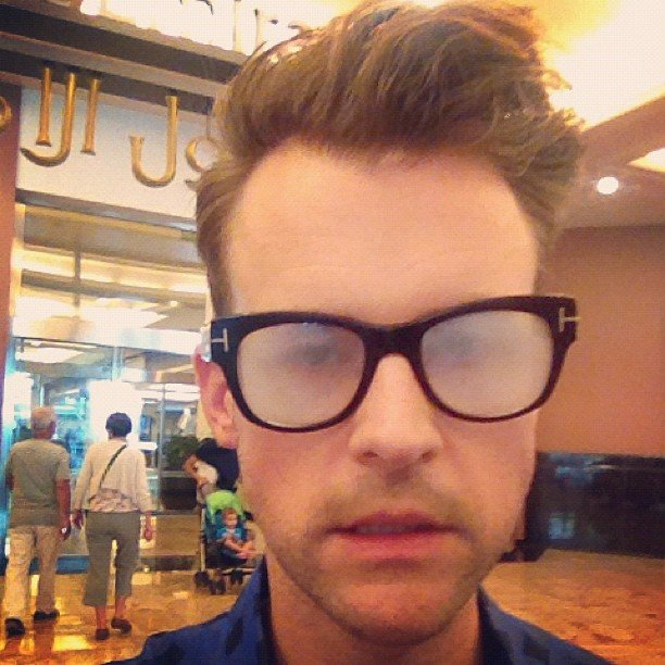 Brad Goreski's glasses were fogging up. Source: Instagram user mrbradgoreski