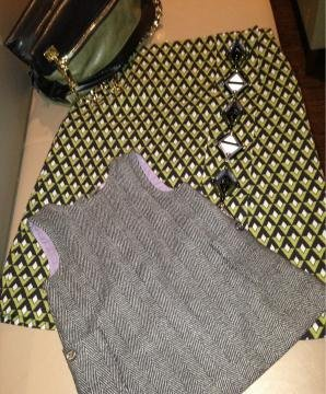 Harper Beckham was decked out in Burberry while her mama wore Prada this week. Source: Twitter user victoriabeckham