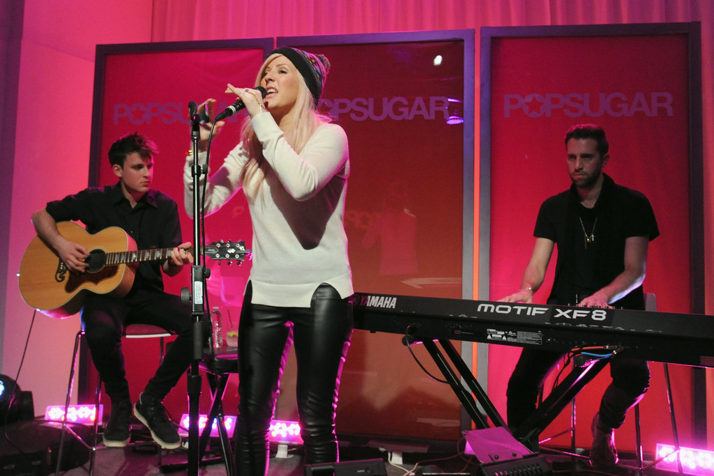 Ellie Goulding performed with her band.