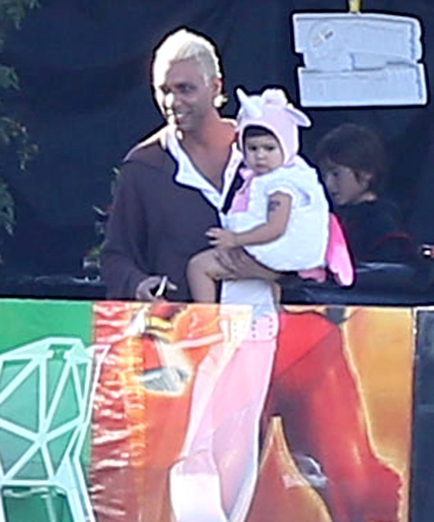 Tony Kanal brought his daughter to Gwen Stefani's party in LA on Saturday.