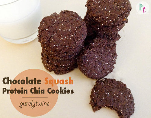 chocolate squash vegan chia seed cookies