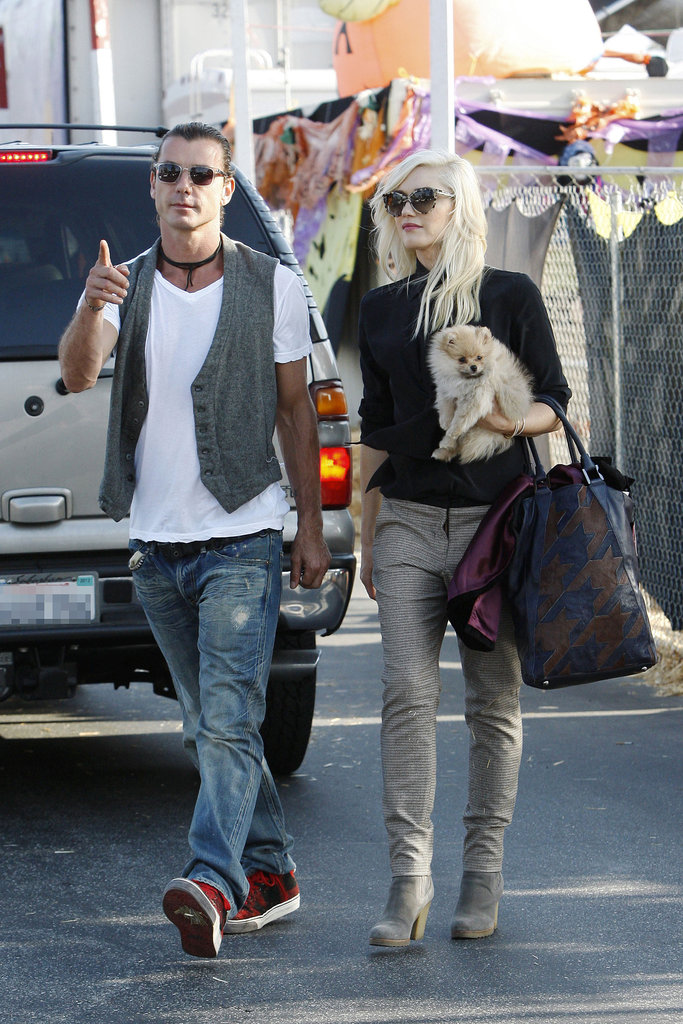 Gwen Stefani and Gavin Rossdale Sneak In Pumpkin Patch PDA