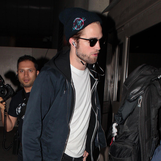 Robert Pattinson Pictures Leaving LAX For Sydney Breaking Dawn Part 2 Tour