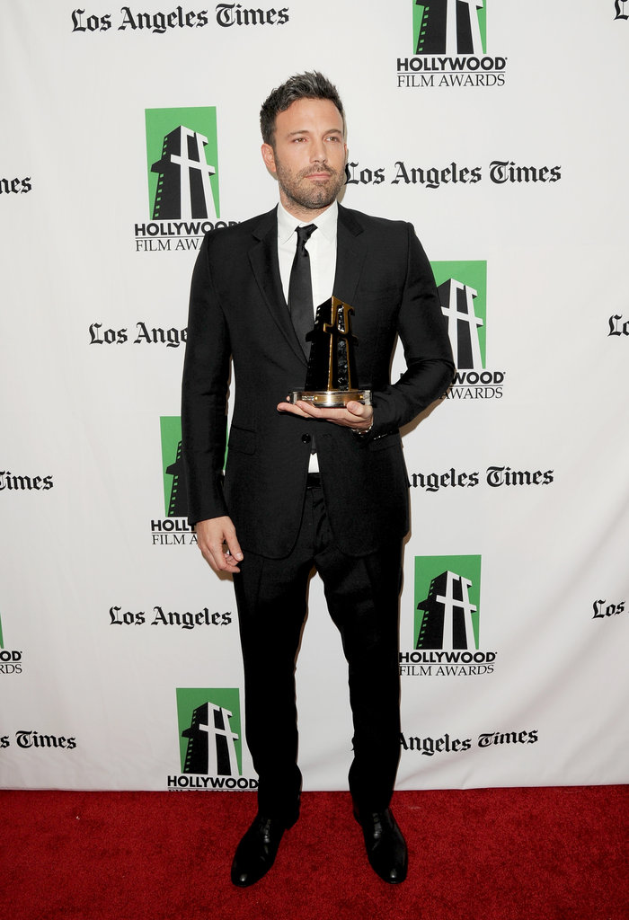 Ben Affleck stepped out with his award.