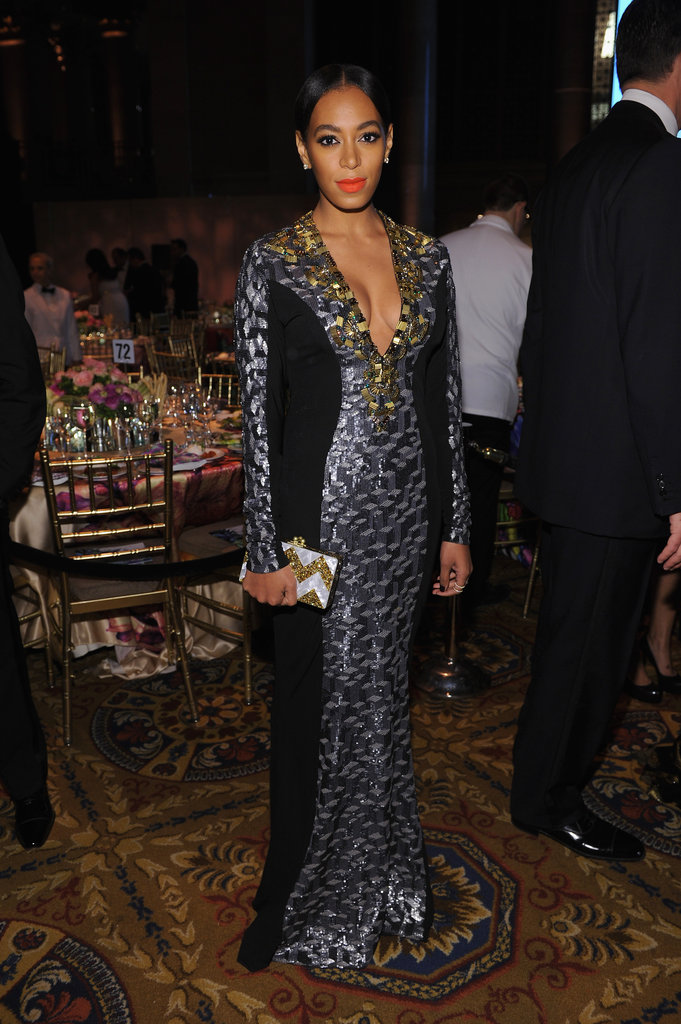 Solange Knowles stepped out in New York City for the Angel Ball.