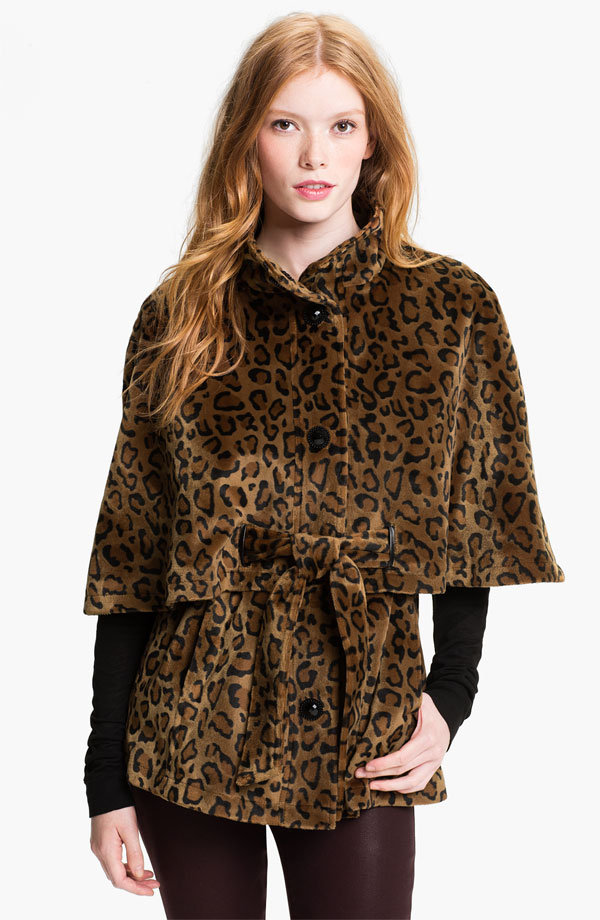 A leopard-print topper like Betsey Johnson's Tiered Faux Leopard Fur Capelet ($138) is perfect for channeling your inner Holly Golightly.
