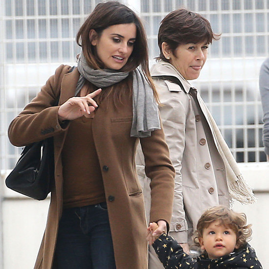 Penelope Cruz Wearing Brown Coat