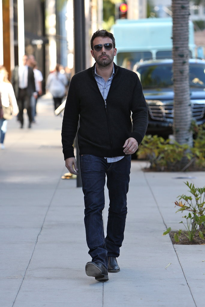 Ben Affleck pounded the pavement.