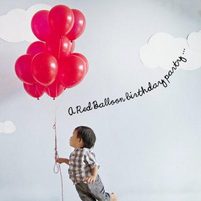 Red Balloon Parisian Birthday Party