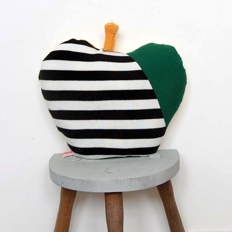 Rhubarb & Apples Upcycled Pillow