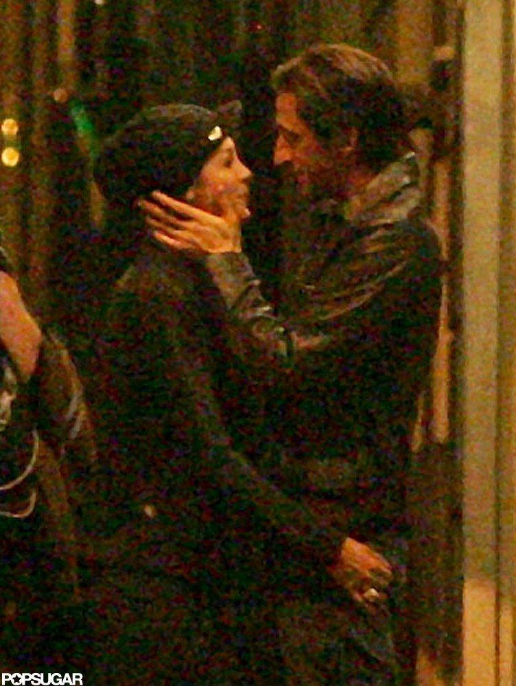Adrien Brody and girlfriend Lara Lieto were in Rome.