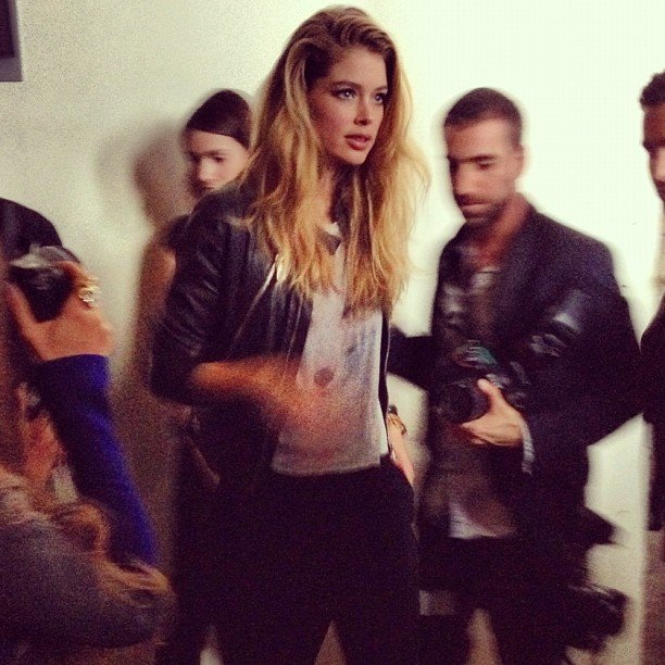 Doutzen Kroes made a mad dash at the Maison Martin Margiela for H&M launch.