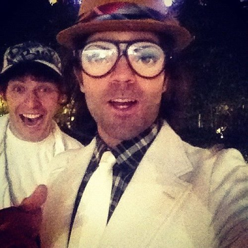 Adrian Grenier wore goofy glasses at a party.  Source: Instagram user adriangrenier