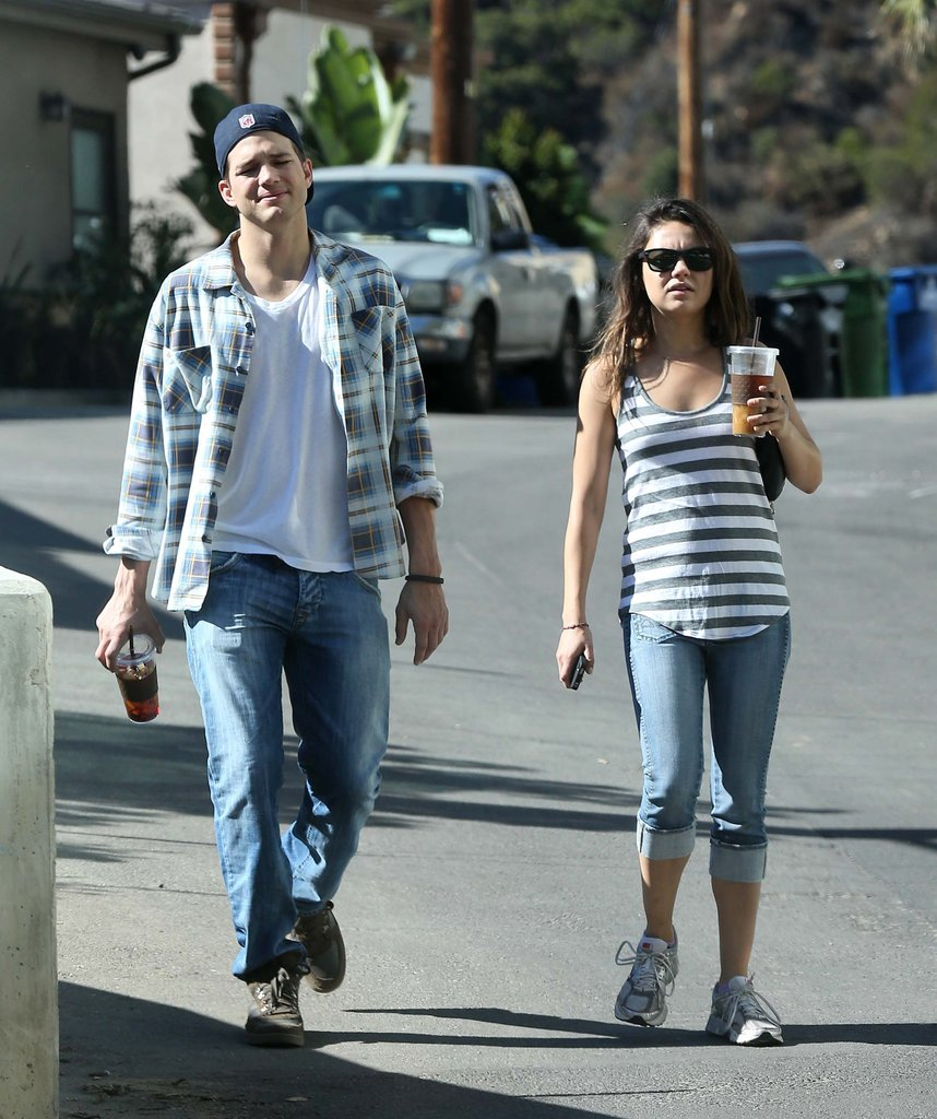 Ashton Kutcher and Mila Kunis got some fresh air together in LA.