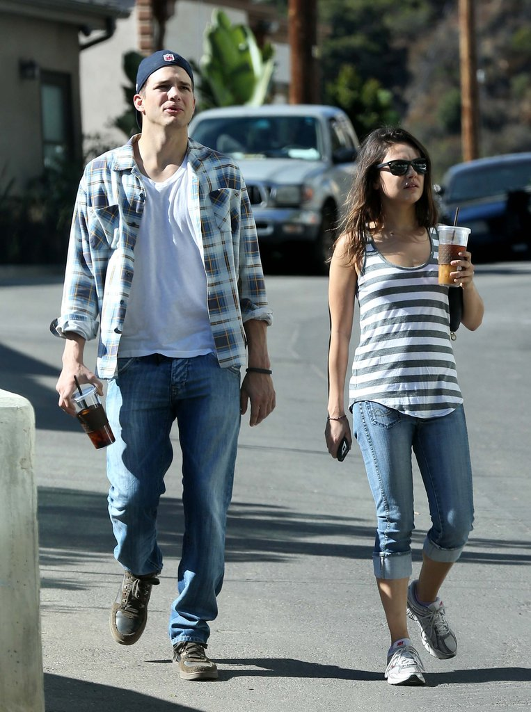 Ashton Kutcher and Mila Kunis enjoyed the sunshine in LA.