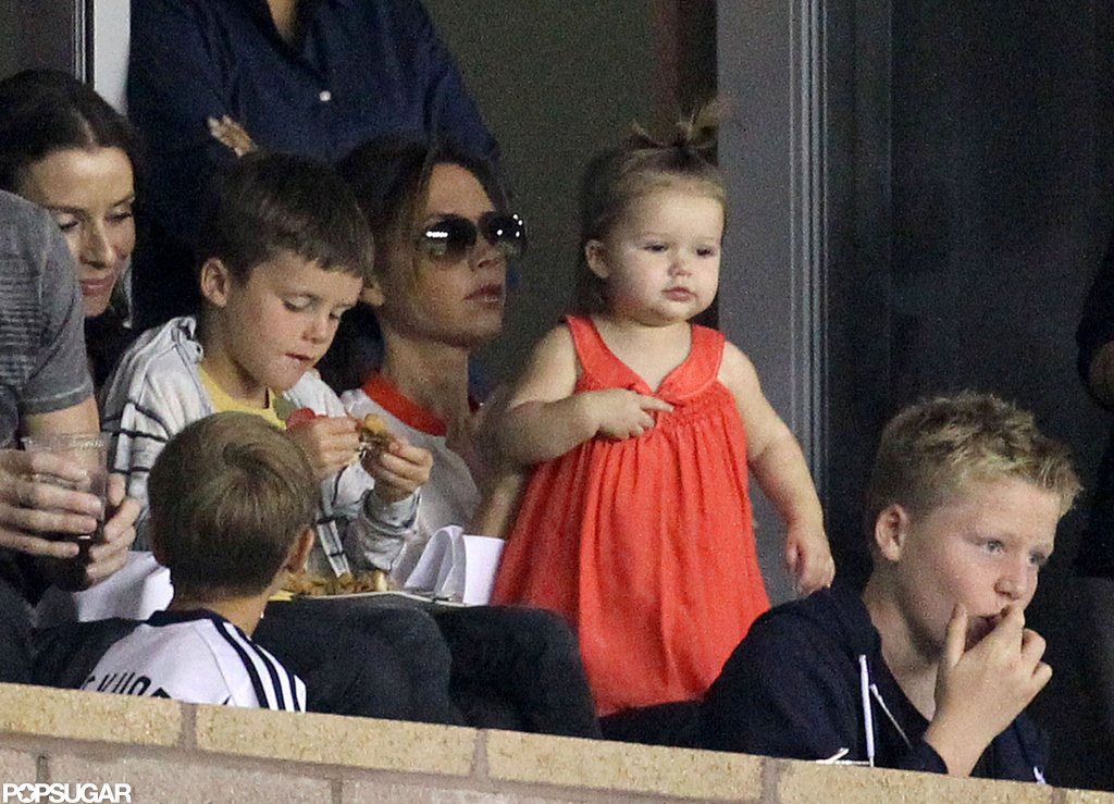 Harper Beckham was with her mother, Victoria Beckham, in LA.