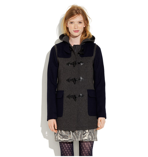 Madewell's Colorblock Toggle Coat ($295) puts an on-trend spin on a classic cut.