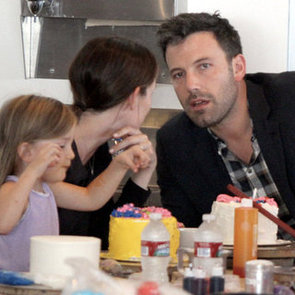 Ben Affleck and Jennifer Garner Cake Decorating With Girls