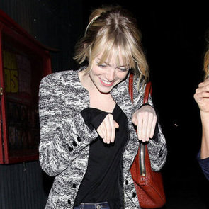 Emma Stone Acts Goofy With a Friend | Pictures